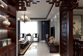 二居室中式风格装修玄关设计