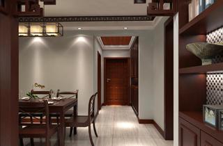 二居室中式风格装修门厅图片