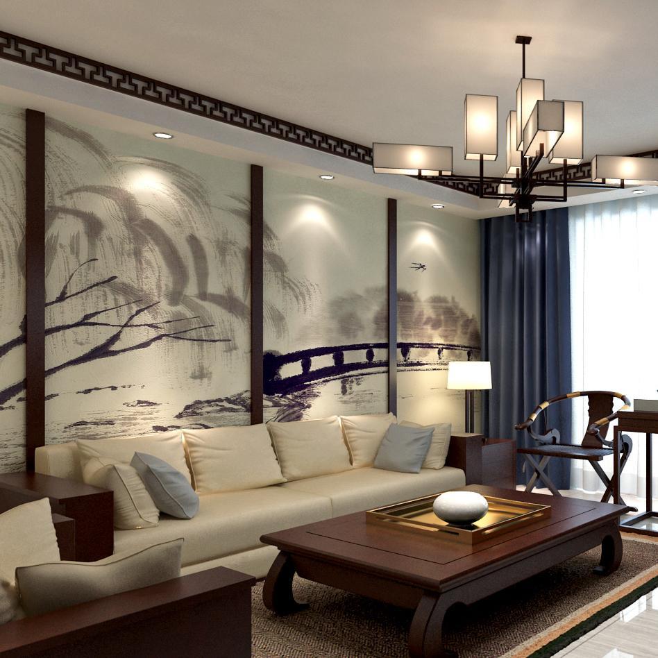 二居室中式风格装修效果图
