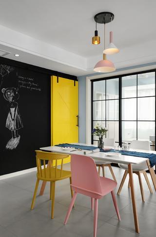 140平北欧风格餐厅装修效果图