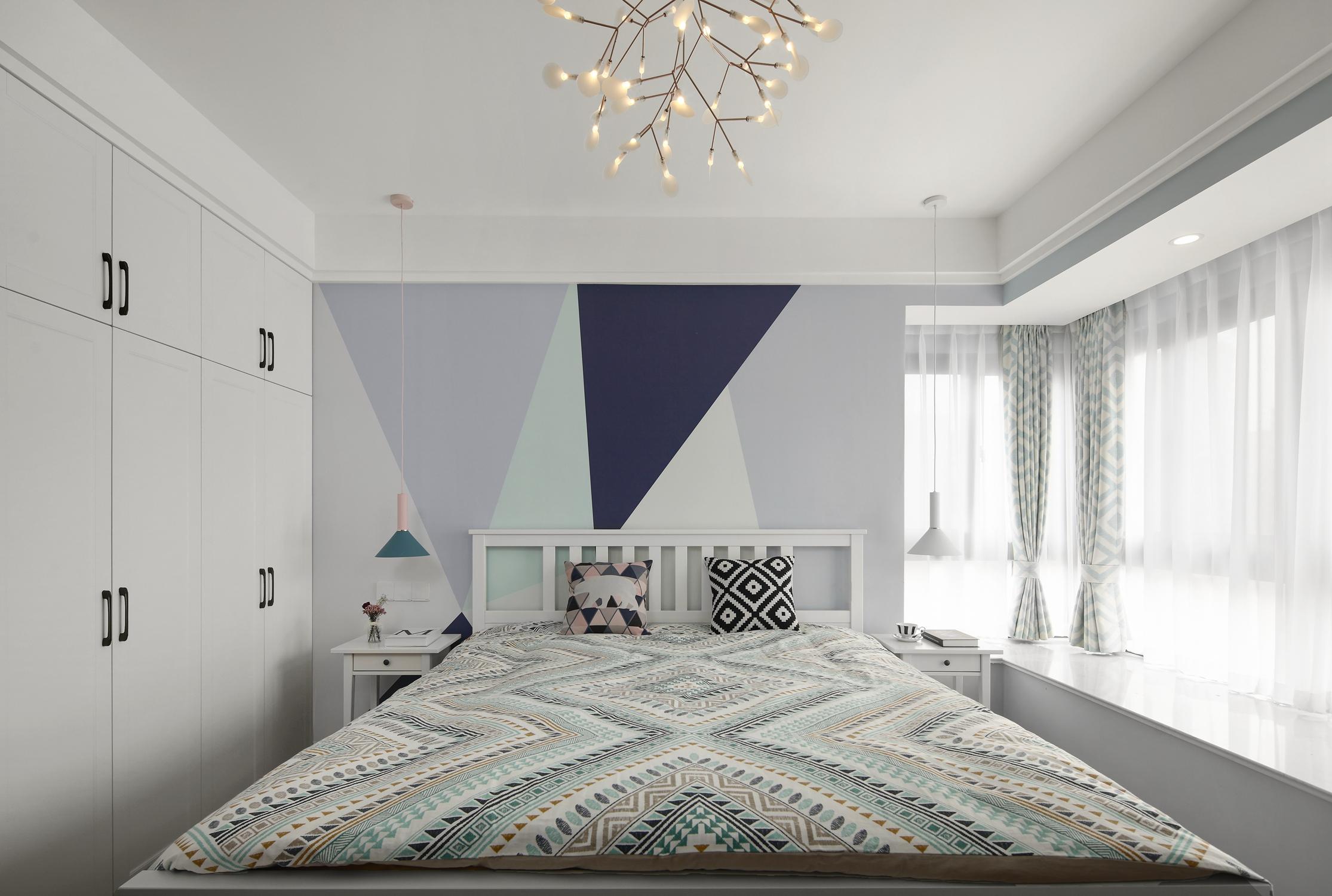 140平北欧风格卧室装修效果图