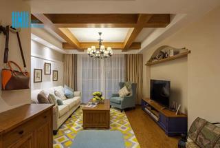 美式风格三居客厅每日首存送20