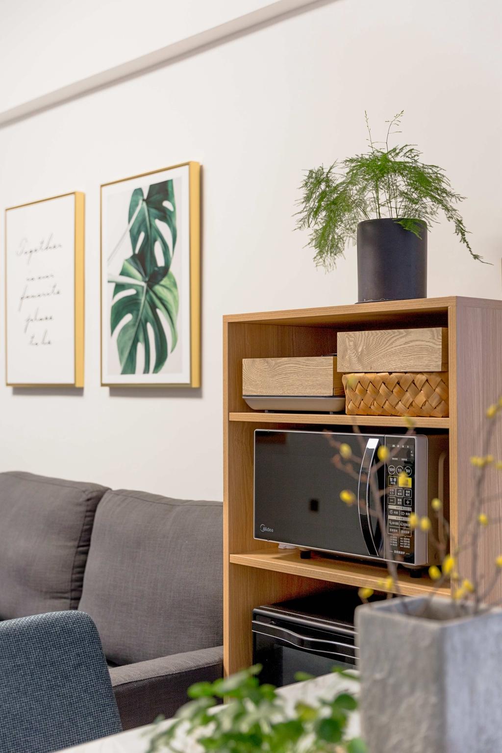 北欧风格三居室装修收纳柜特写