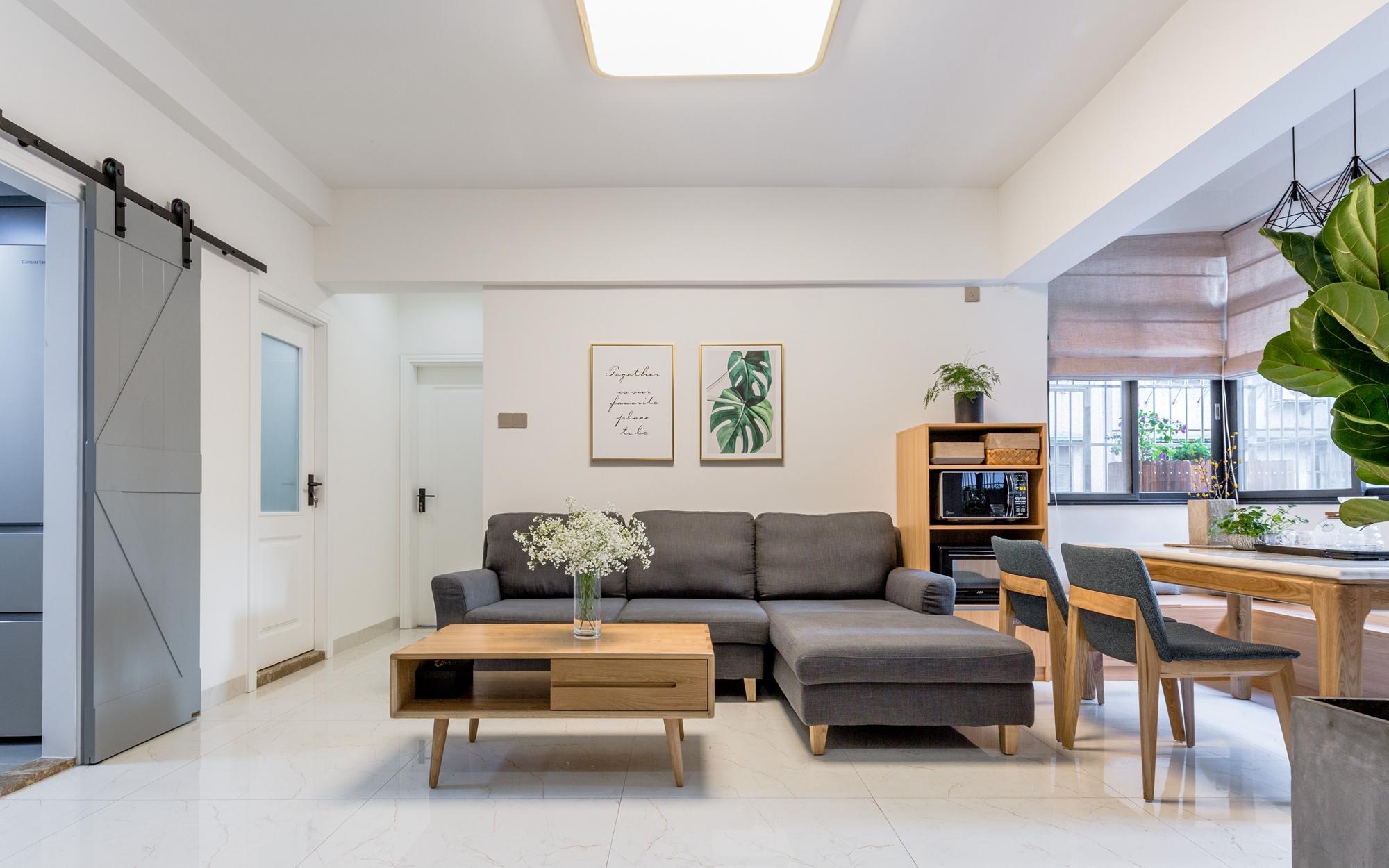 北欧风格三居室客厅沙发墙装修效果图