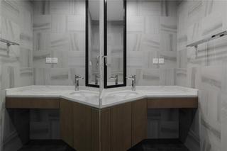130平现代简约卫生间装修效果图
