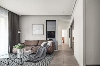 现代简约风格两居装修客厅过道