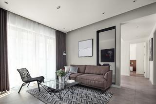 现代简约风格两居客厅沙发墙装修效果图