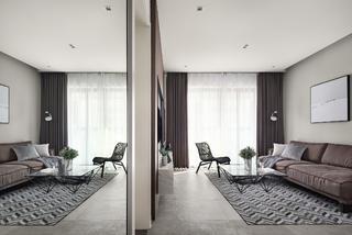 现代简约风格两居客厅装修效果图