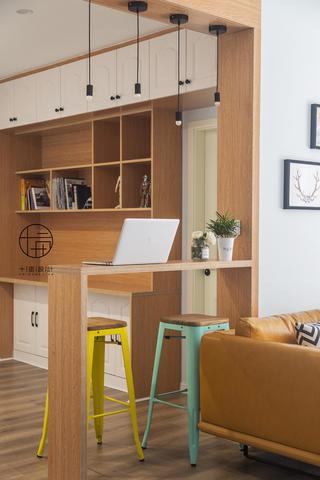 三居室北欧风装修吧台设计