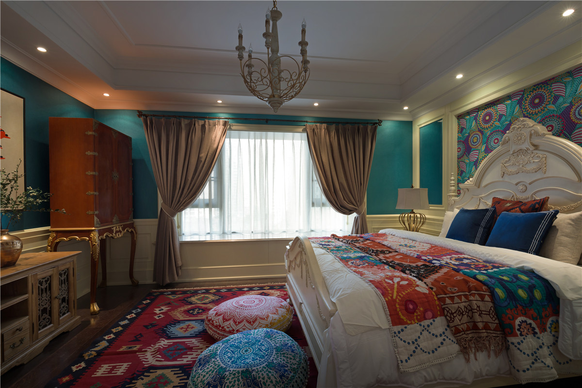 150㎡波西米亚风卧室装修效果图