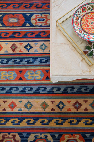 150㎡波西米亚风装修地毯特写