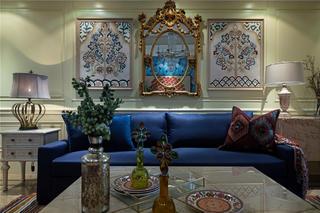150㎡波西米亚风沙发背景墙装修效果图