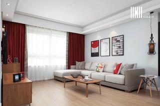 现代北欧两居室客厅装修效果图
