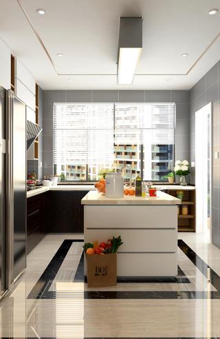 138㎡现代风格装修厨房设计图