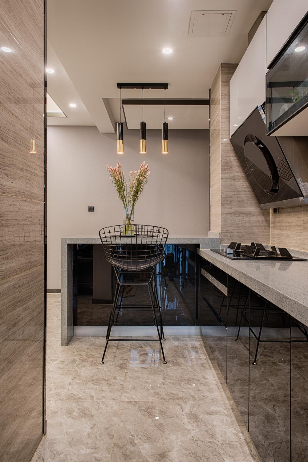 一居室混搭装修厨房设计图