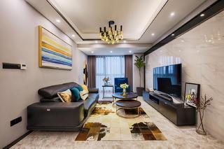 一居室混搭装修客厅效果图
