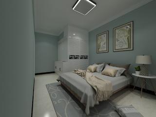 130平简欧三居装修卧室背景墙图片