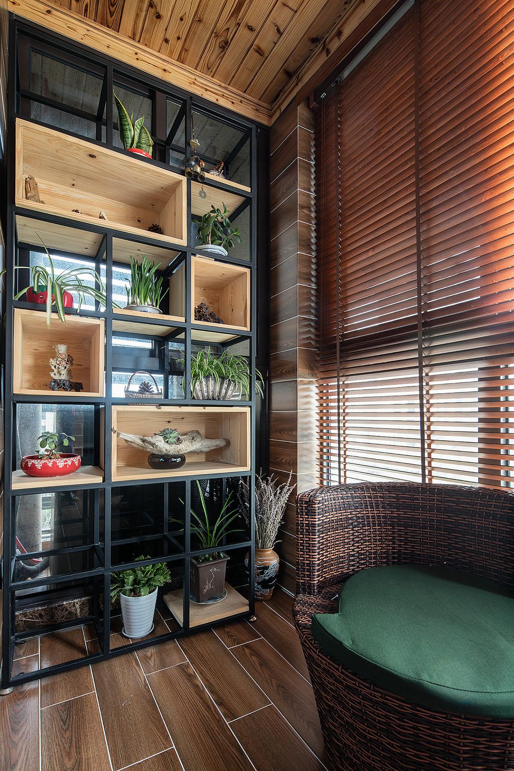 三居室美式风设计百叶窗图片