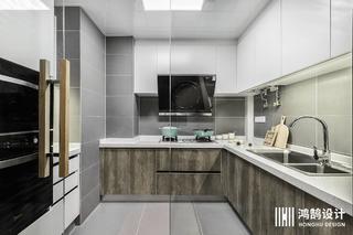 100㎡北欧风格家厨房构造图
