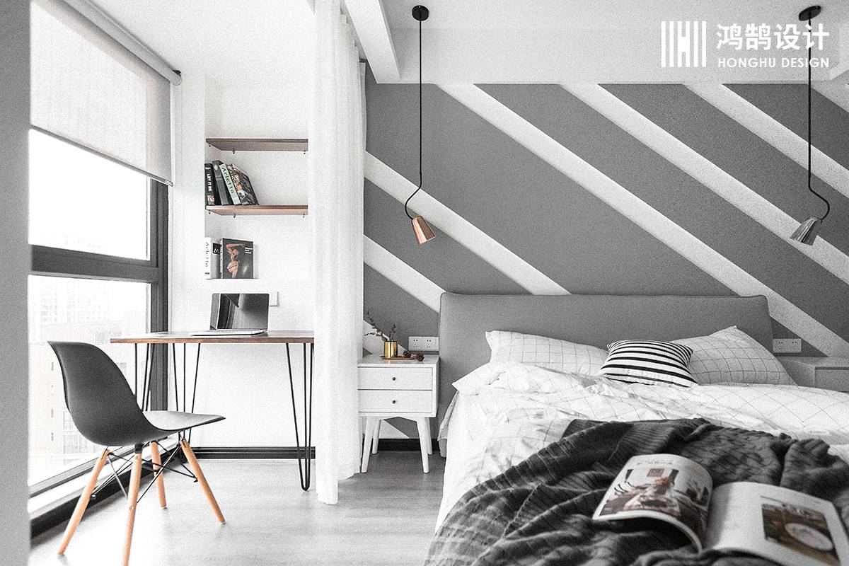 100㎡北欧风格家卧室效果图