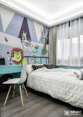 100㎡北欧风格家儿童房设计图
