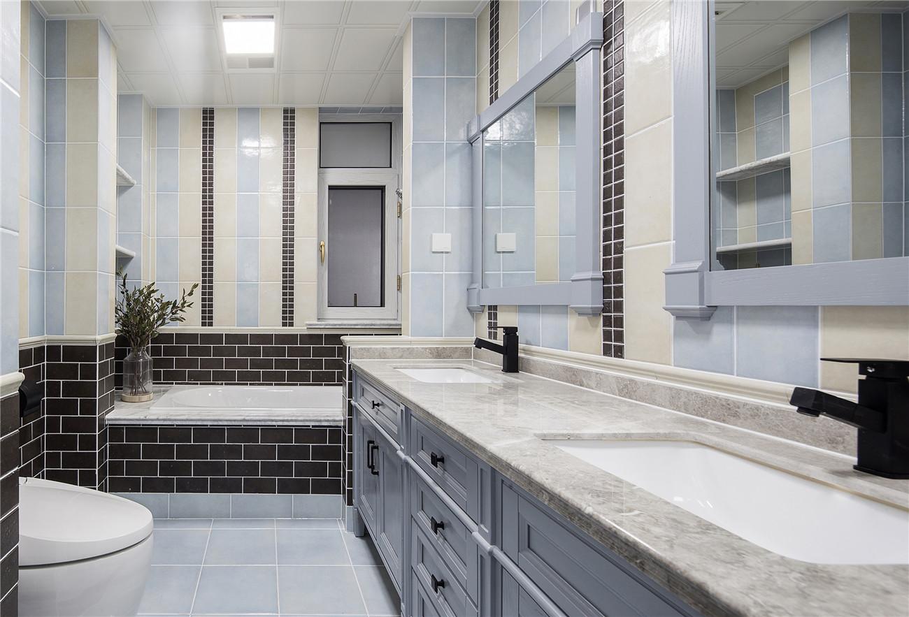165㎡美式风格装修卫生间装潢图