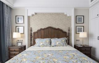 165㎡美式风格装修卧室背景墙