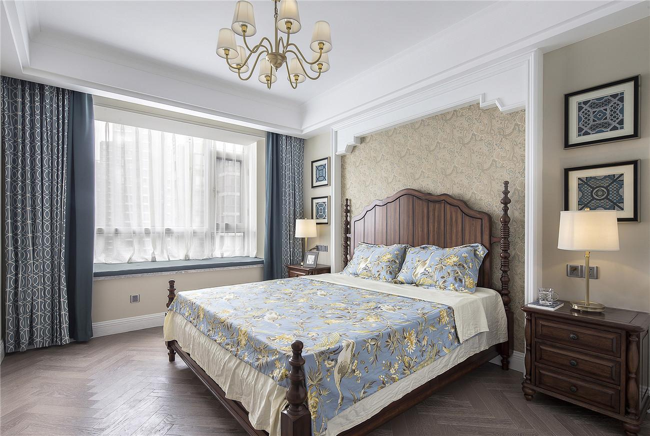 165㎡美式风格装修卧室效果图