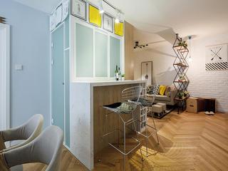 三居室北欧风格家吧台设计
