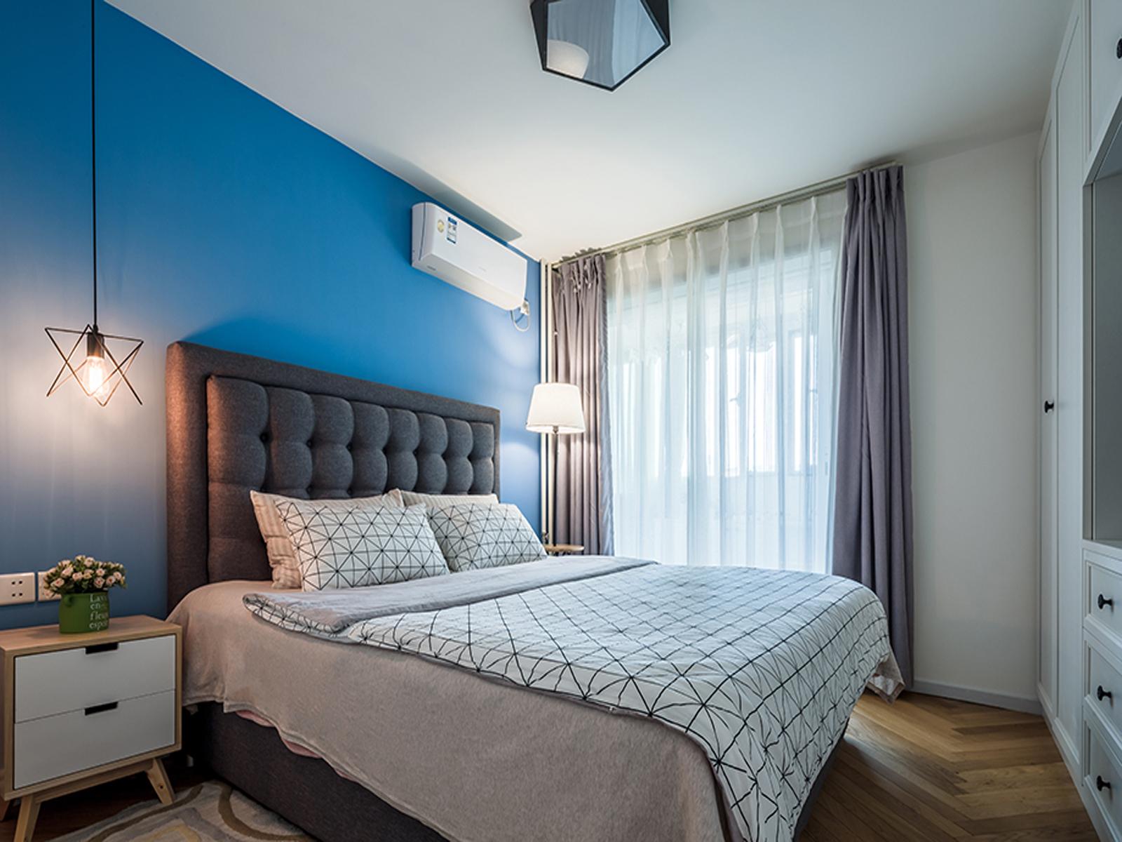 三居室北欧风格家卧室效果图