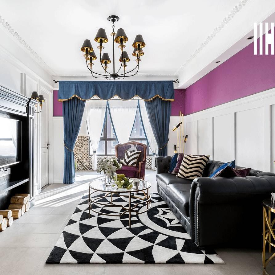 二居室美式家 紫色浪漫