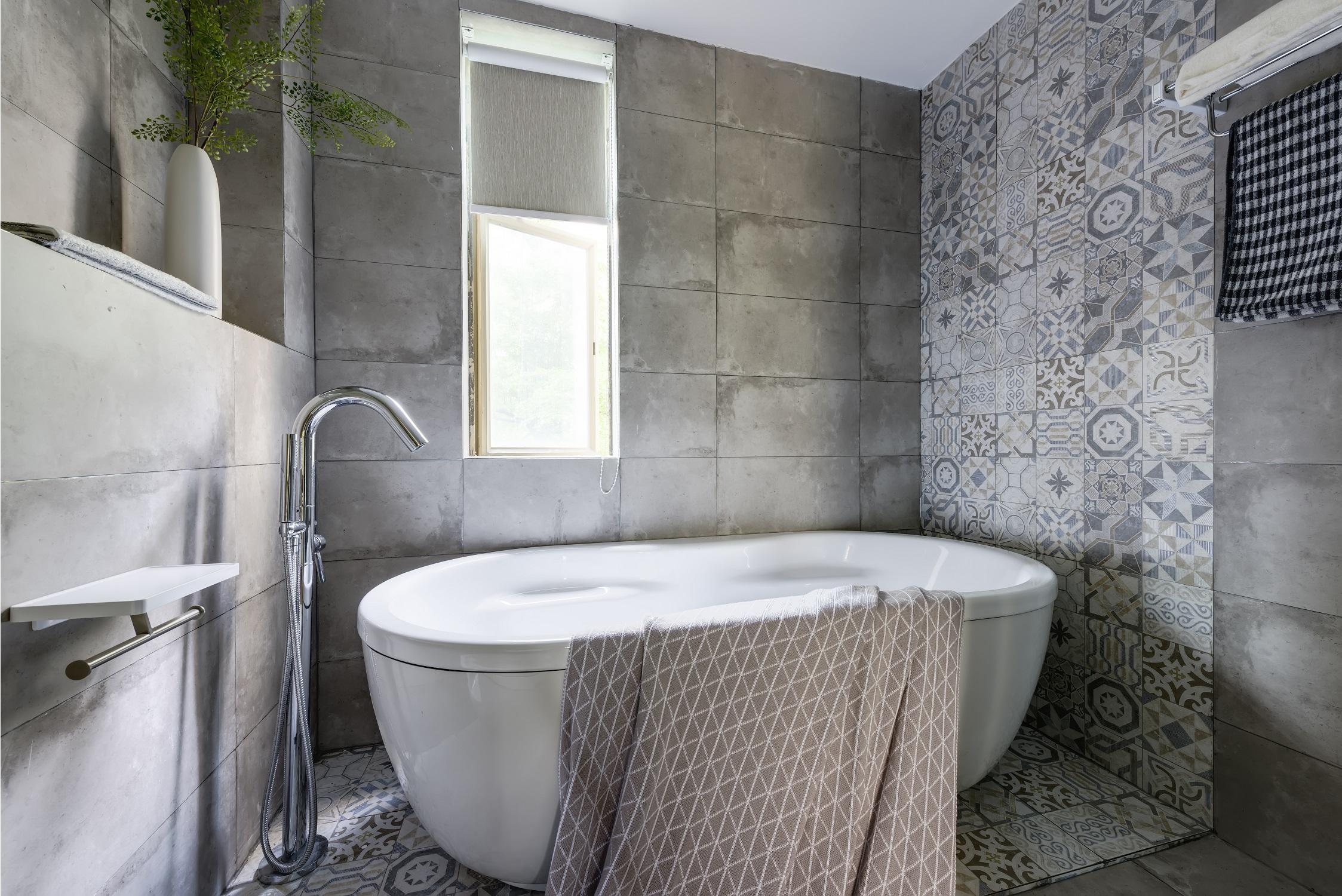 180㎡混搭风格装修浴缸图片