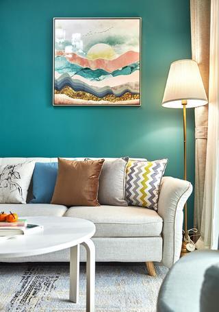 80平米两居室装修沙发一角