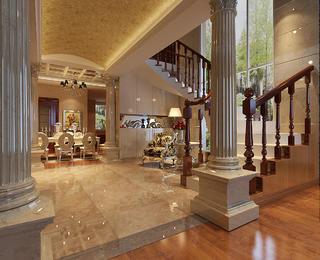 欧式别墅装修门厅设计