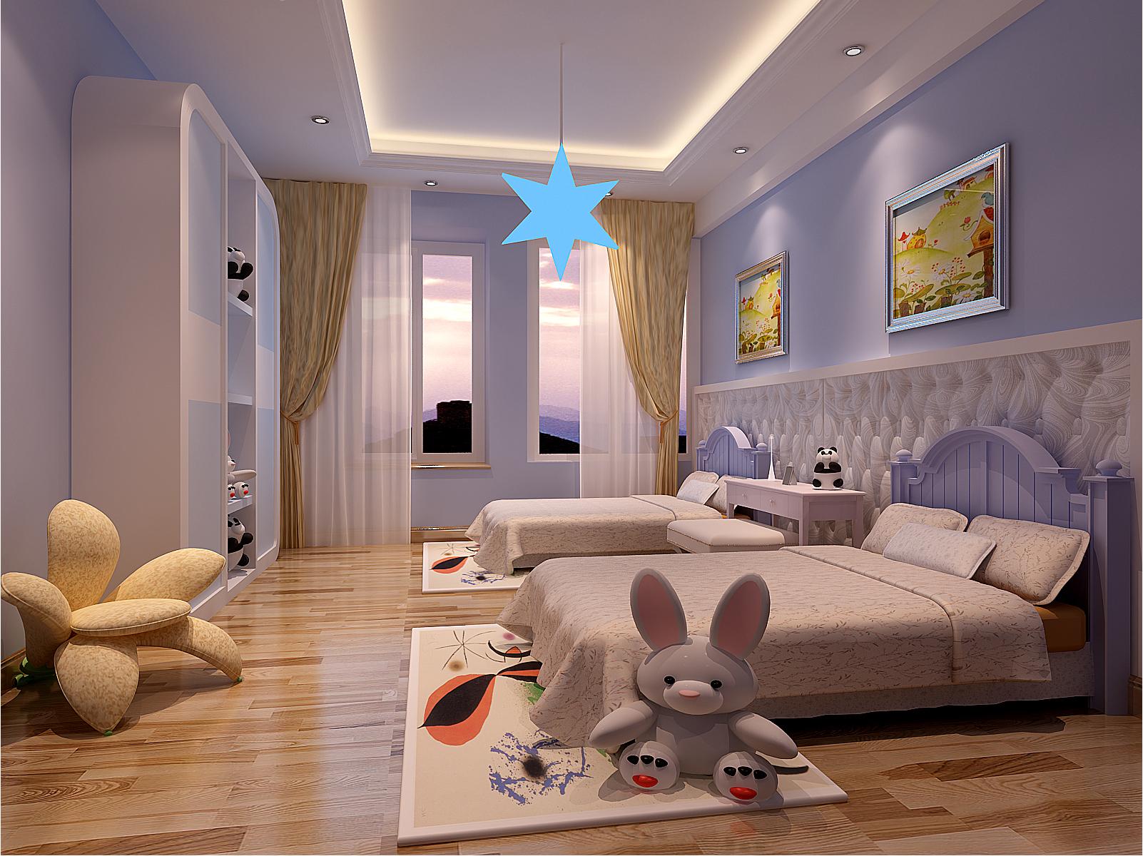 欧式别墅装修儿童房效果图