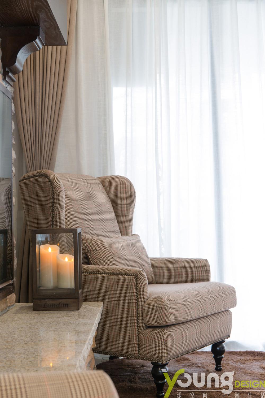 135平美式风格装修沙发椅设计
