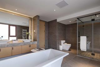 现代简约风格别墅卫生间装修效果图