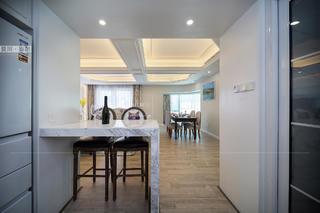 100㎡美式风三居装修吧台设计