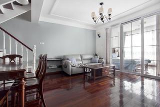 120㎡美式复式装修客厅效果图