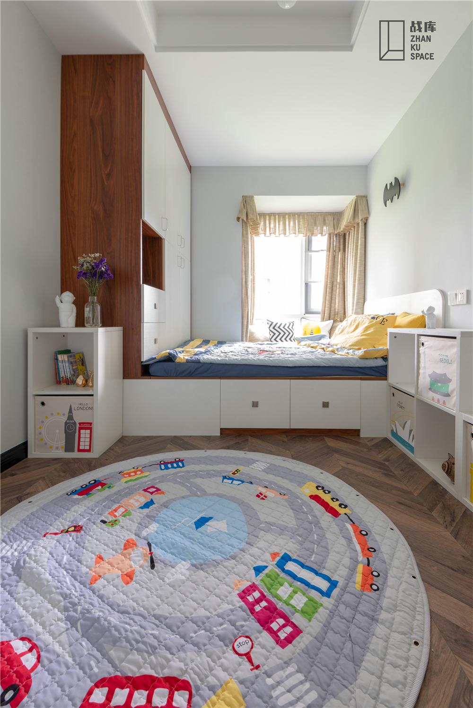 现代风三居室榻榻米儿童房装修效果图