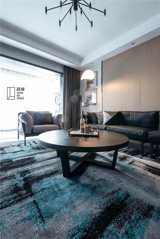 现代风三居室装修客厅茶几设计