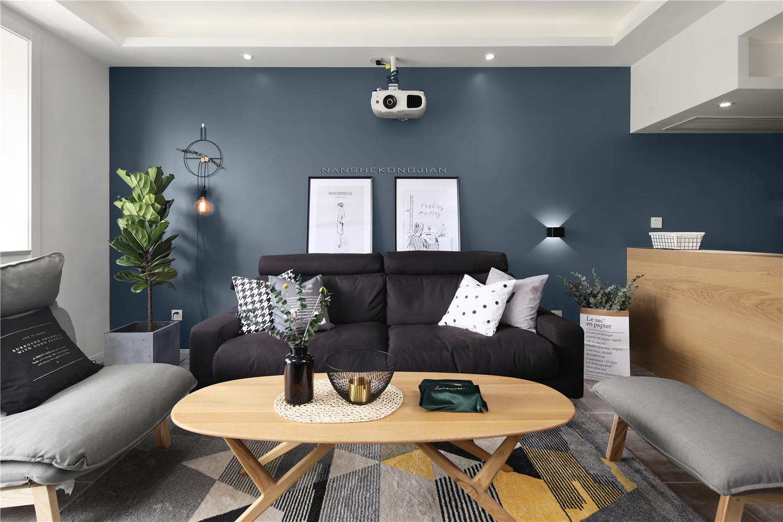 北欧风格两居沙发背景墙装修效果图