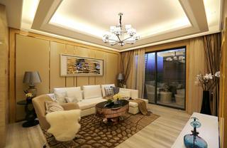 现代简约两居室客厅沙发墙装修效果图