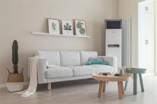80平简约北欧风装修客厅沙发设计