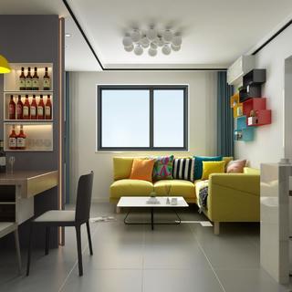 小户型现代二居装修效果图