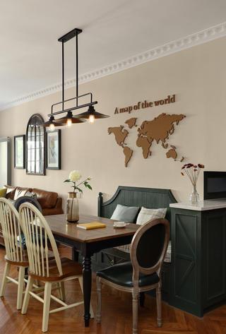133㎡美式风格餐厅装修效果图