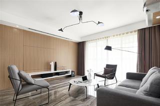 130平现代简约客厅电视墙装修效果图