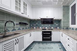 180㎡美式三居厨房装修效果图