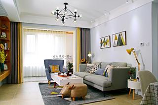 北欧风二居客厅装修效果图