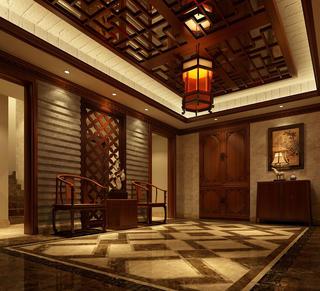 中式风格别墅门厅装修效果图